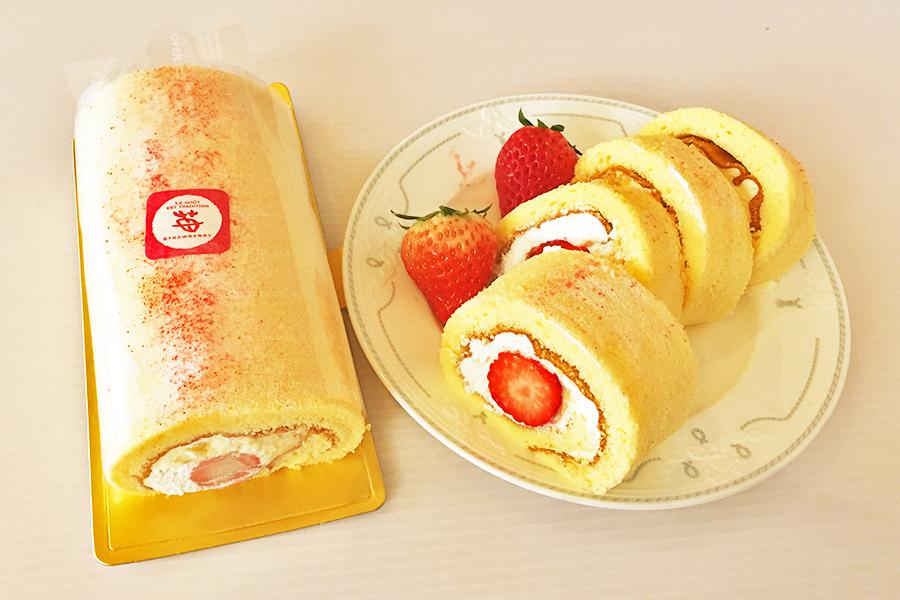 イチゴのロールケーキの商品写真
