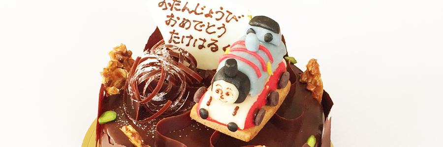 お菓子で作ったトーマス
