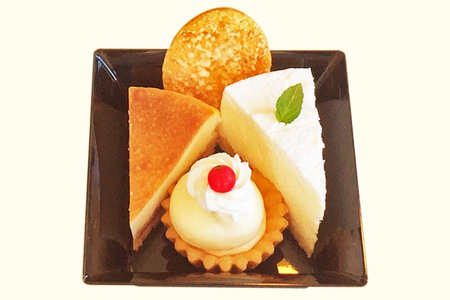 4種のチーズケーキ盛り合わせの新しい商品写真