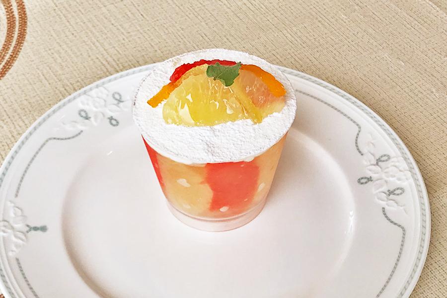 グレープフルーツのフレッシュゼリーの商品写真